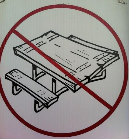 no tables